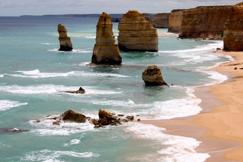 """Hey Mate!"" says Celine.  Leave Melbourne and travel along the Great Ocean Road to visit the iconic Twelve Apostles."