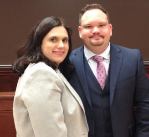WMU-Cooley law students and married couple Elizabeth and Bryan Devolder were named the top team in the ABA Client Counseling Competition held in Pittsburgh, Penn. on Feb. 7. The Regional Competition winners will advance to the national competition where 12 teams (top school in each region) will compete for the national title.