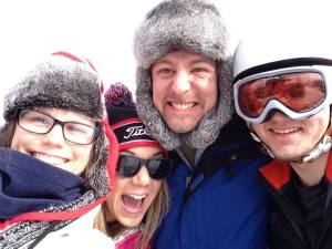 Taking a well deserved ski trip with my WMU-Cooley friends during break.