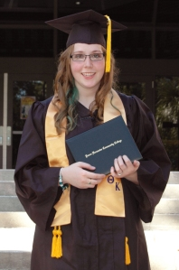 Robyn after graduating with her AA degree