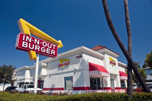 In-N-Out Burger restaurant