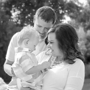 Jason Eggleston with wife, Chelsa, and son Dawson
