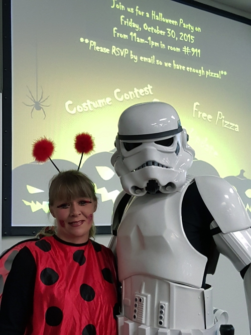 Sure, candy is expected, but let's talk pizza. Thank you, Dominoes for providing lunch to all of our WMU-Cooley ghouls and goblins – And Darth Vader; Lansing campus Halloween costume winner!