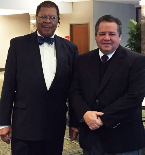 Ingham County Prosecutor Stuart Dunnings III (left) and WMU-Cooley law School Professor Anthony Flores (right)