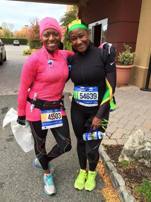 WMU-Cooley Professor Karen Fultz and Tampa Bay Campus Director Dionnie Wynter ready to rock & roll the NYC Marathon.