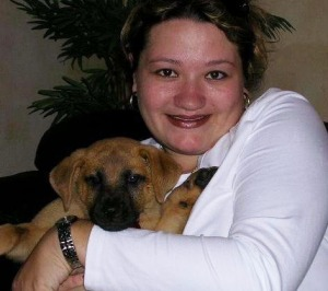 Rosina Mayo with her best friend Jax as a puppy