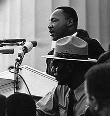"Dr. Martin Luther King Jr. presents his ""I Have a Dream"" speech in 1963"