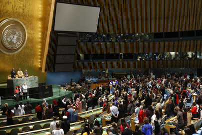 Welcome to the United Nations: Opening of the 15th Session of the UNPFII in the General Assembly Hall.