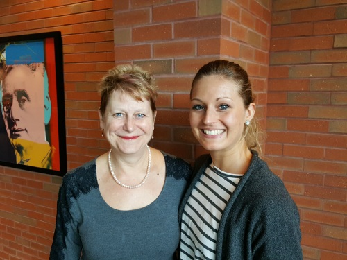 WMU-Cooley Innocence Project Director Marla Mitchell-Cichon and German International Exchange Program law student Anna-Lisa Benkhoff.