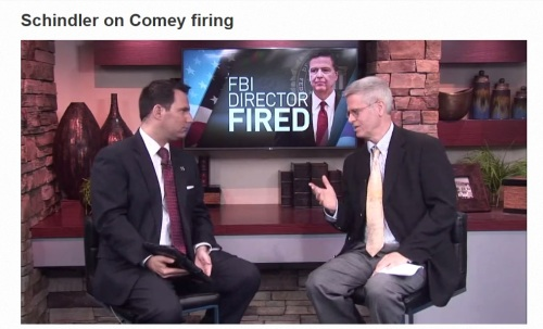 WMU-Cooley Law School Constitutional Law Professor Devin Schindler shares expert analysis on the firing of FBI Director James Comey.