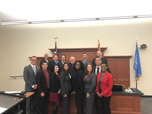 Mock Trial participants